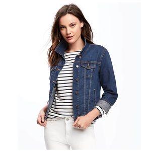 Old navy medium wash denim jacket Sz medium